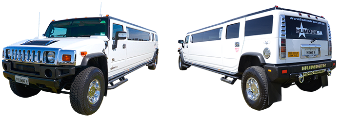 White Stretch Hummer Limousine Adelaide
