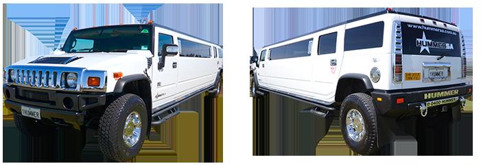 White Stretch Hummer Limousine Adelaide