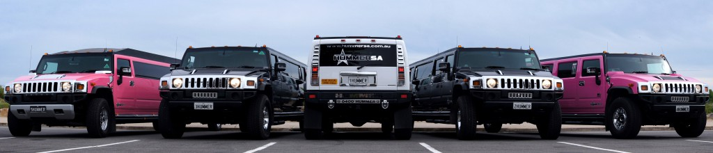 Stretch Hummer Fleet - White Black Pink